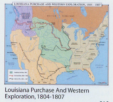 Louisiana Purchase And Western Exploration Map MAP - Louisiana purchase and western exploration us history map activities