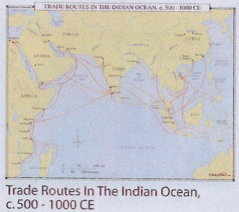 Indian+ocean+trade+route+map