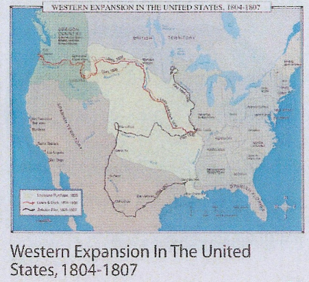 Western Expansion In The United States 1804 1807 Wall Map