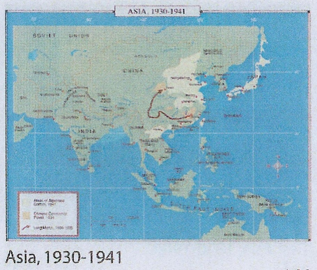 Map Of Asia 1930.School Spring Roller Wall Maps One Map Place Inc