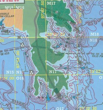 Lake maps and fishing guides one map place for Lake conroe fishing map