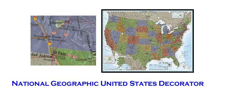 United States Wall Map National Geographic Decorator Paper ...