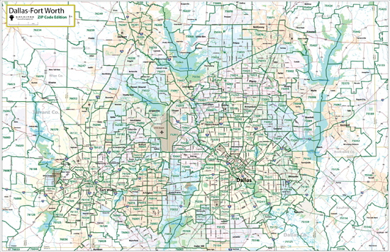 Fort Worth Zip Code Map  Zip Code Map
