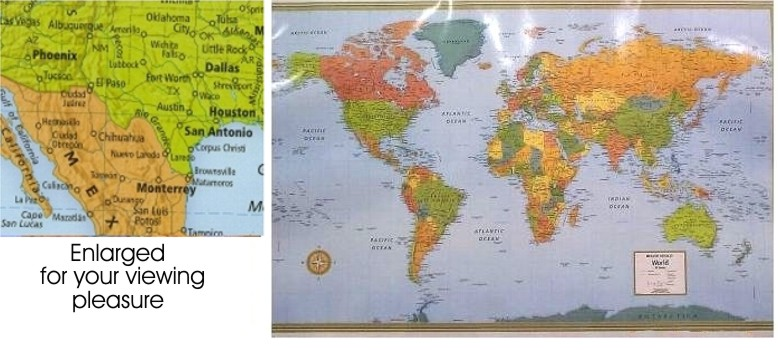 World Wall Map In Paper Laminated Or Mounted By Rand McNally - Rand mcnally us wall map