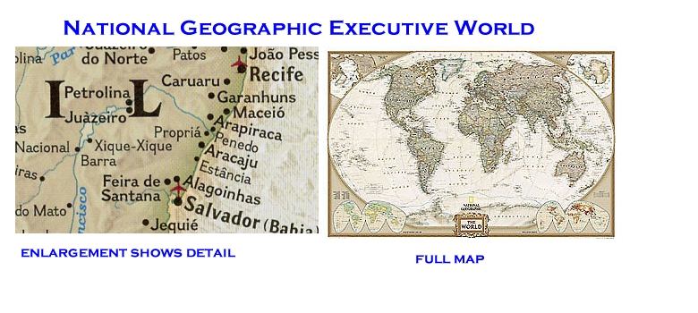 World wall map in paper laminated or mounted by national geographic national geographic world wall map image gumiabroncs Gallery