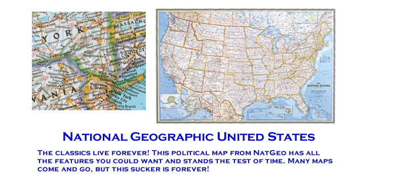 Us Highway Wall Map By National Geographic Paper Laminated Or - National-geographic-us-map