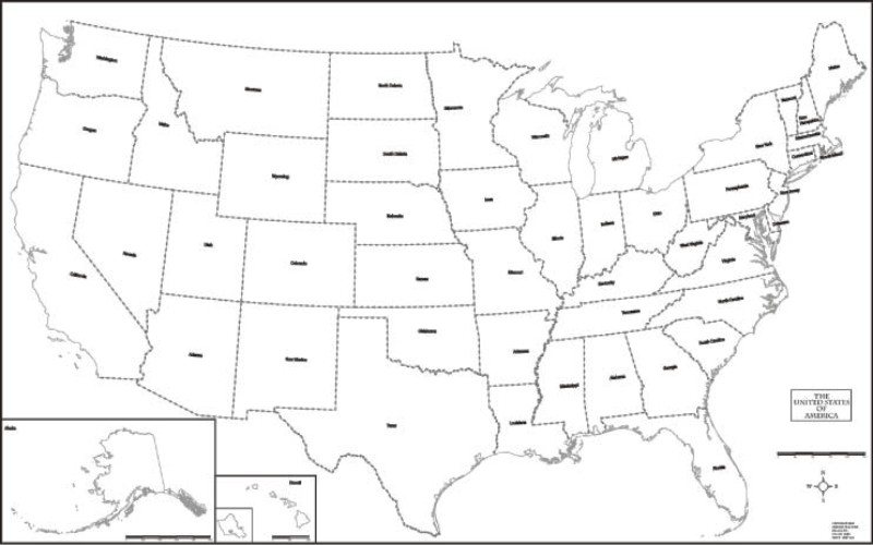 Geography Blog Outline Maps United States - Us map hawie state coloring pages
