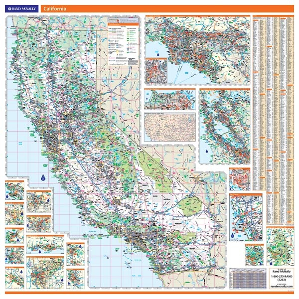 Rand McNally California map. One Map Place Inc.