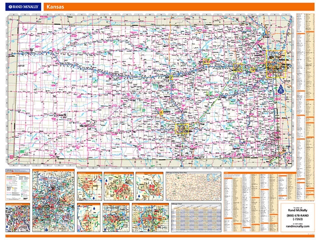 Rand McNally Kansas map. One Map Place Inc.