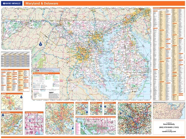 Rand McNally Maryland-Delaware map. One Map Place Inc.