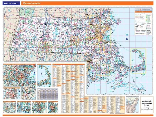 Rand McNally Massachusetts map One Map Place Inc