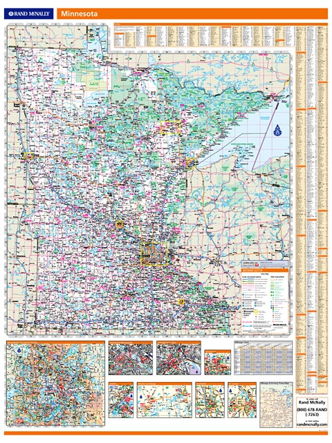 Rand McNally Minnesota map One Map Place Inc