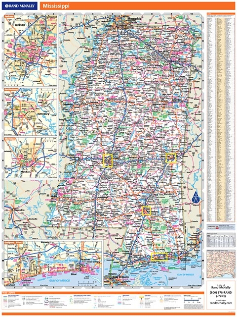 Rand McNally Mississippi Map One Map Place Inc - Rand mcnally online maps