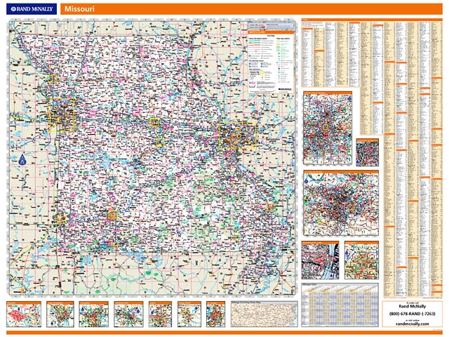 Rand McNally Missouri map. One Map Place Inc. on map of all georgia cities, map of colorado and nebraska borders, map of indiana area, map tilden nebraska, map of montana, map of eastern wyoming,