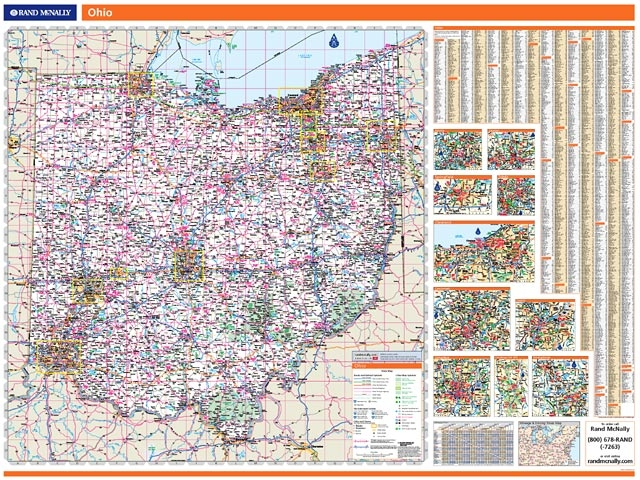 Rand McNally Ohio Map One Map Place Inc - Rand mcnally online maps