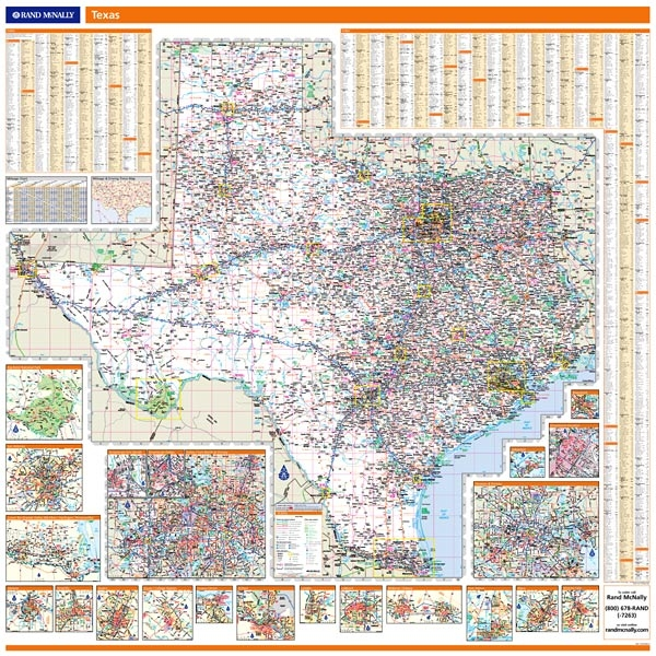 Rand McNally Texas Map One Map Place Inc - Rand mcnally online maps