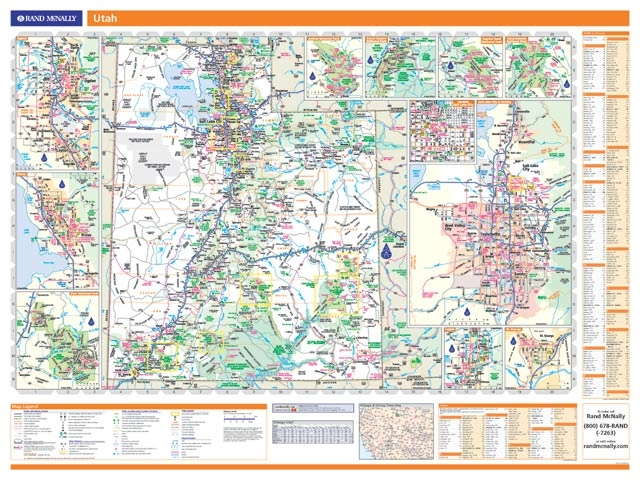 Rand McNally Utah Map One Map Place Inc - Rand mcnally us wall map