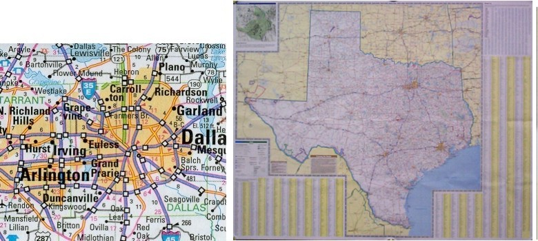 Complete Map Of Texas.Rand Mcnally Texas Map One Map Place Inc