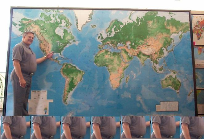 Huge Big Ol Physical World Map and Wall Mural